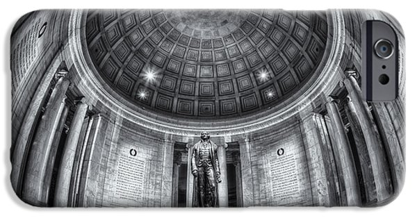 D.c. iPhone Cases - Jefferson Memorial Interior II iPhone Case by Clarence Holmes