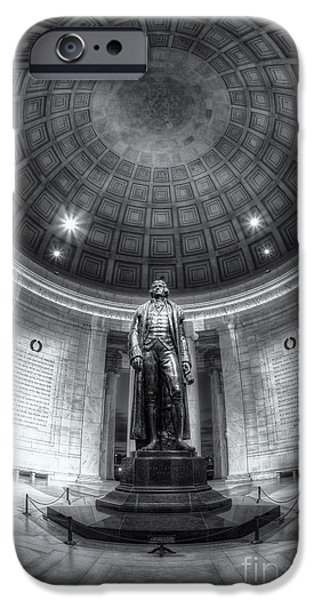 D.c. iPhone Cases - Jefferson Memorial Interior IV iPhone Case by Clarence Holmes
