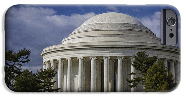 President iPhone Cases - Jefferson Memorial iPhone Case by Joan Carroll
