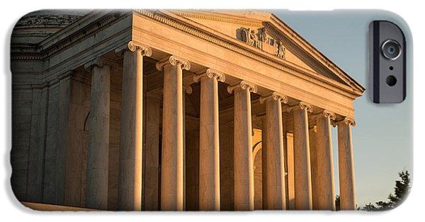 Washington D.c. iPhone Cases - Jefferson Memorial Sunset iPhone Case by Steve Gadomski