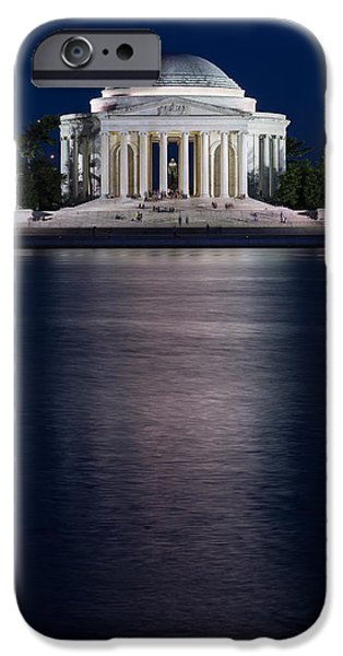 D.c. Photographs iPhone Cases - Jefferson Memorial Washington D C iPhone Case by Steve Gadomski
