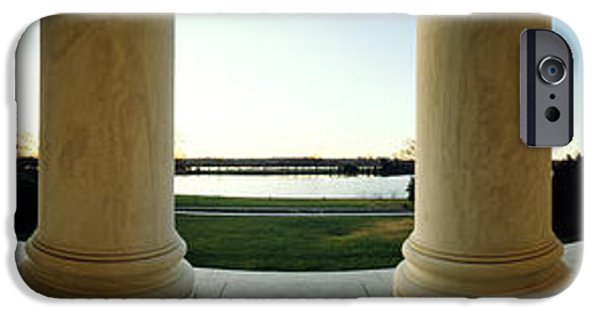 Distortion iPhone Cases - Jefferson Memorial Washington Dc iPhone Case by Panoramic Images