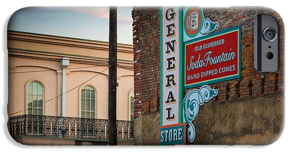 Brick Building iPhone Cases - Jefferson Soda Fountain iPhone Case by Inge Johnsson