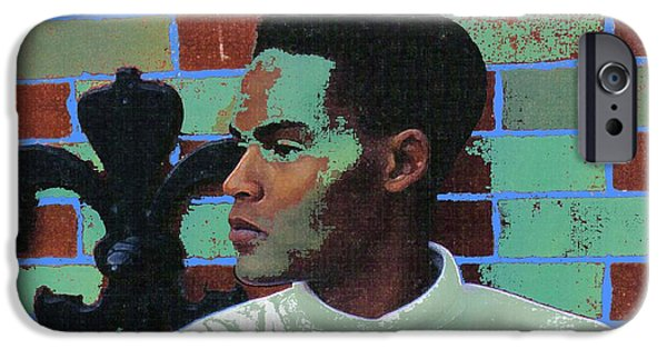 Digitally Signed Mixed Media iPhone Cases - Jeffrey Burton Fisher 1989 iPhone Case by Feile Case