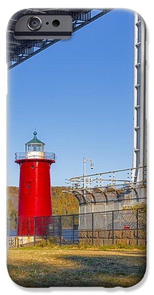 Maritime iPhone Cases - Jeffreys Hook Lighthouse IV iPhone Case by Susan Candelario