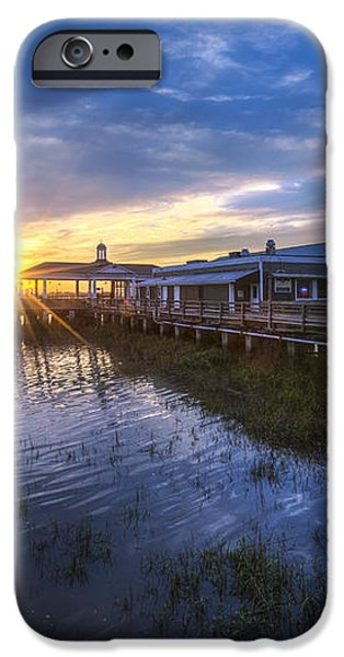 Jekyll Island Sunset iPhone Case by Debra and Dave Vanderlaan