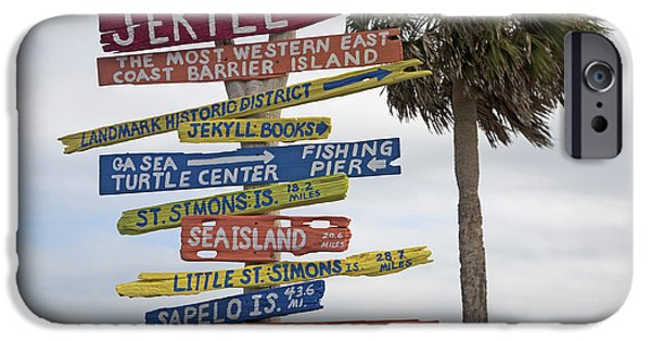 Cutler iPhone Cases - Jekyll Island Where to Go iPhone Case by Betsy A  Cutler