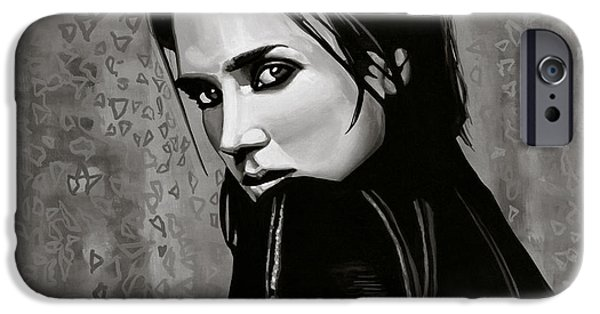 Model iPhone Cases - Jennifer Connelly iPhone Case by Paul Meijering