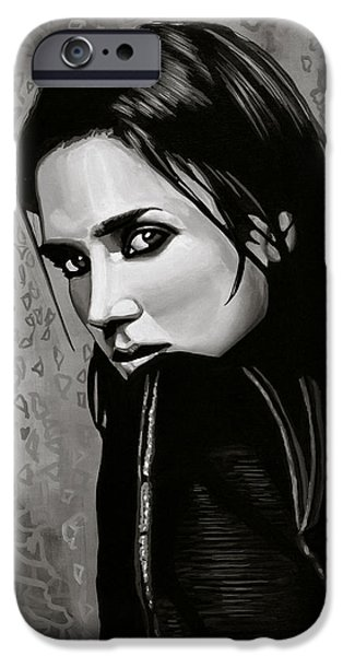 Noah iPhone Cases - Jennifer Connelly iPhone Case by Paul Meijering