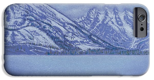 Snowy Pastels iPhone Cases - Jenny Lake - Grand Tetons iPhone Case by Michele Myers