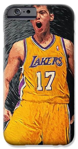 Kobe Bryant Nba iPhone Cases - Jeremy Lin iPhone Case by Taylan Soyturk