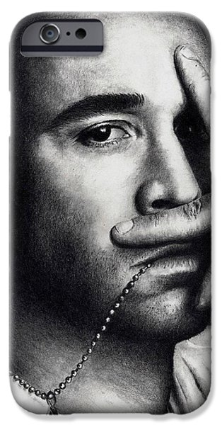 Jeremy iPhone Cases - Jeremy Piven iPhone Case by Rick Fortson