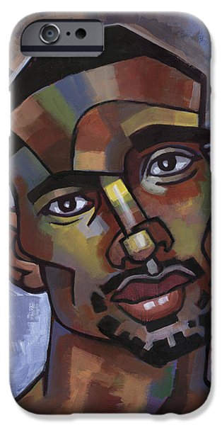 Male iPhone Cases - Jerome Has a Good Thought iPhone Case by Douglas Simonson