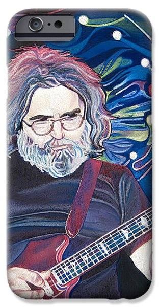 Jerry Garcia and Lights iPhone Case by Joshua Morton