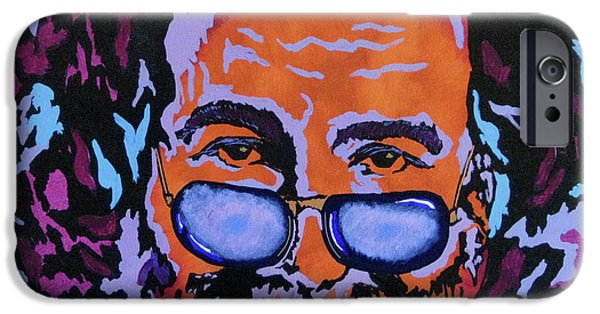 Gallery Paintings iPhone Cases - Jerry Garcia-Its A Me Thing iPhone Case by Bill Manson