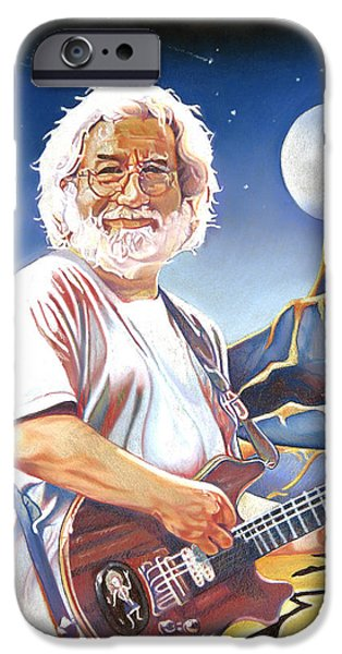Morton iPhone Cases - Jerry garcia Live at the Mars Hotel iPhone Case by Joshua Morton