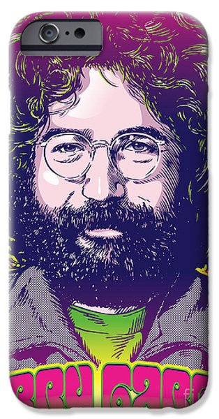 Sixties iPhone Cases - Jerry Garcia Pop Art iPhone Case by Jim Zahniser