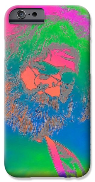 Counterculture iPhone Cases - Jerry Garcia Tie Dye iPhone Case by Dan Sproul
