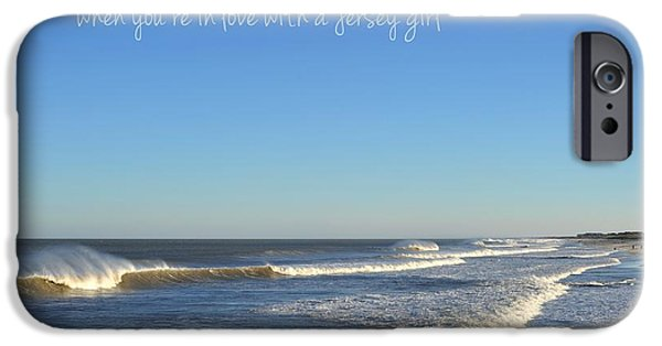 Recently Sold -  - Beach Landscape iPhone Cases - Jersey Girl Seaside Heights Quote iPhone Case by Terry DeLuco