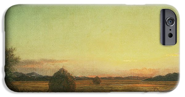 The Fall iPhone Cases - Jersey Meadows iPhone Case by Martin Johnson Heade