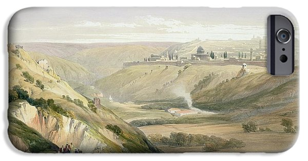 Remnant iPhone Cases - Jerusalem April 5th 1839 iPhone Case by David Roberts
