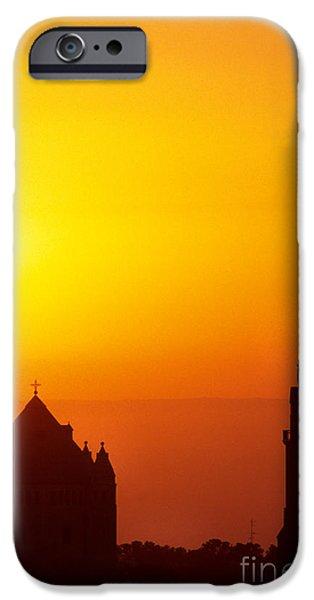 Israel iPhone Cases - Jerusalem Sunrise iPhone Case by Thomas R Fletcher