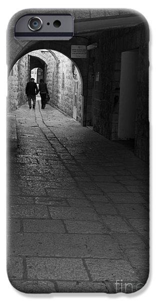 Women Together iPhone Cases - Jerusalems Street Scene iPhone Case by Rita Kapitulski