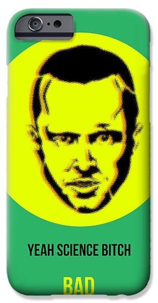 Film iPhone Cases - Jesse Breaking Bad Poster 2 iPhone Case by Naxart Studio