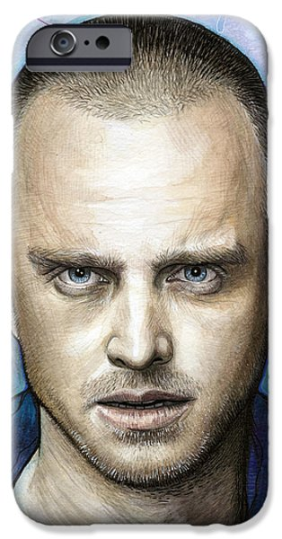 Celebrities Art iPhone Cases - Jesse Pinkman - Breaking Bad iPhone Case by Olga Shvartsur