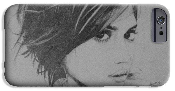 Jessica Alba iPhone Cases - Jessica Alba iPhone Case by Ankur Choudhary