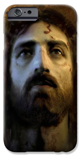 Jesus Face iPhone Cases - Jesus Alive Again iPhone Case by Ray Downing