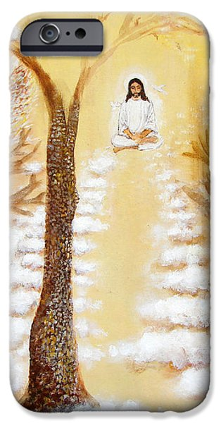 Jesus Art - The Christ Childs Asleep iPhone Case by Ashleigh Dyan Bayer