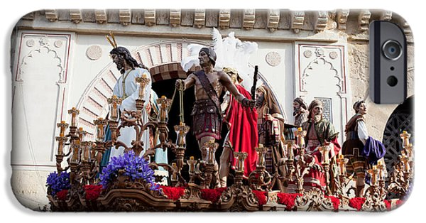 Easter Celebration iPhone Cases - Jesus Christ and Roman Soldiers on Procession iPhone Case by Artur Bogacki