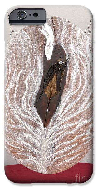 Jesus Reliefs iPhone Cases - Jesus Christ blessings and the life tree iPhone Case by Heidi Sieber