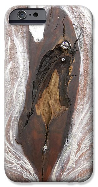 Magical Reliefs iPhone Cases - Jesus Christ blessings iPhone Case by Heidi Sieber