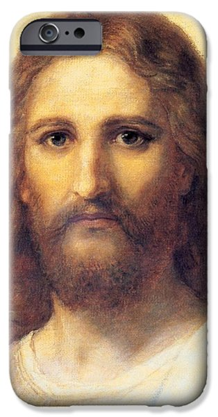 Over Hang iPhone Cases - Jesus Christ iPhone Case by Carl Bloch
