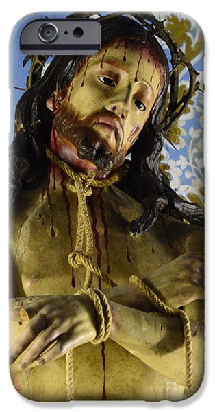 Son Of God Photographs iPhone Cases - Jesus Christ Crucifixion 1 iPhone Case by Bob Christopher