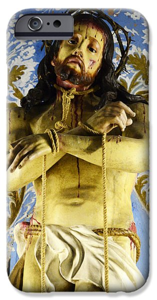 Son Of God Photographs iPhone Cases - Jesus Christ Crucifixion 5 iPhone Case by Bob Christopher