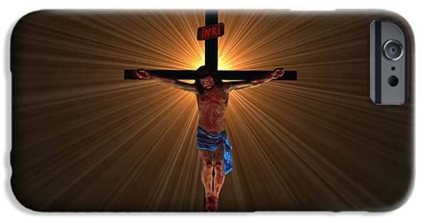Rucker iPhone Cases - Jesus Christ iPhone Case by Michael Rucker