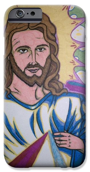 Jesus Drawings iPhone Cases - Jesus Christ iPhone Case by Michael Toth
