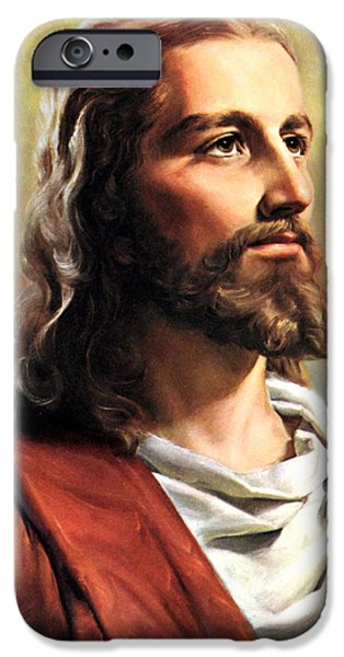 Profile iPhone Cases - Jesus Christ iPhone Case by Munir Alawi