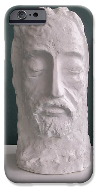 Meditation Sculptures iPhone Cases - Jesus Christ the King 2014 iPhone Case by Karl Leonhardtsberger