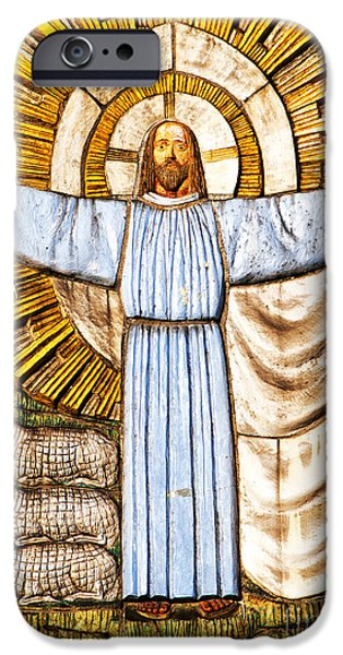 Jesus Christ the Shepherd iPhone Case by Antony McAulay