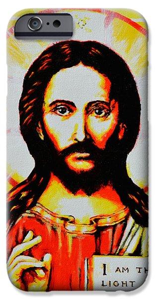 Jesus Christ iPhone Case by Victor Minca