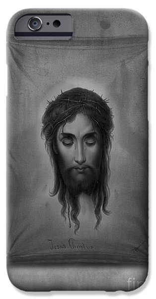 Religious Icon iPhone Cases - Jesus Christus iPhone Case by Edward Fielding
