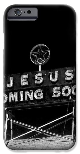 Bible Photographs iPhone Cases - Jesus Coming Soon iPhone Case by Edward Fielding