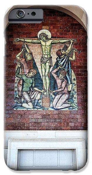 Son Of God Photographs iPhone Cases - Jesus e Pregado na Cruz iPhone Case by John Rizzuto