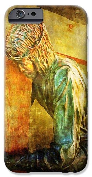 Jesus Falls Via Dolorosa 3 iPhone Case by Lianne Schneider