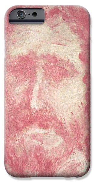 Jesus Drawings iPhone Cases - Jesus iPhone Case by Guy Ciarcia