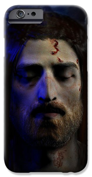 Turin Digital Art iPhone Cases - Jesus in Death iPhone Case by Ray Downing